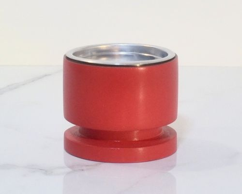 Candle holder Aca pillar red