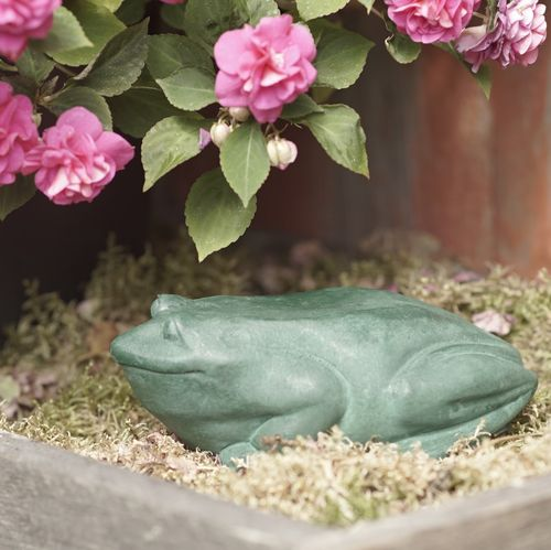 Statue FROG, green