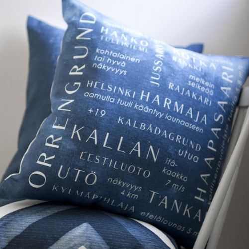 Cushion cover WEATHER FORECAST blue